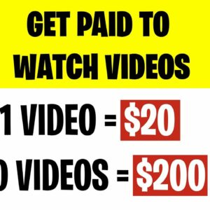 Earn $20 Every 5 Min FOR WATCHING VIDEOS! (Make Money Online)