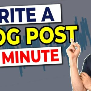 How to Write Blog Content QUICKLY in 2021 (Full Tutorial)