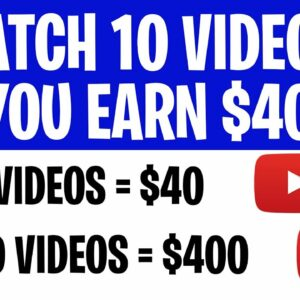 Get Paid To WATCH VIDEOS $400 EVERYDAY for Free! (Earn Money For Watching Videos 2021)