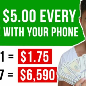 Earn $5 Every 1 Min With Your PHONE For FREE! Make Money Online