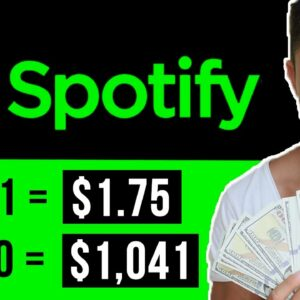 Get Paid $1,041.98 To Listen To Spotify Music (Make Money Online)