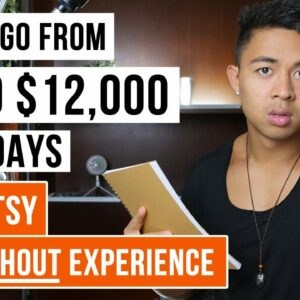 How To Make Money On Etsy Without Making Anything | $0 to $12k+ Per Month in 30 Days