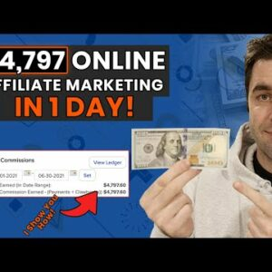 I Made $4,700 In 1 Day With Affiliate Marketing: Step By Step Beginners Tutorial (PROOF)