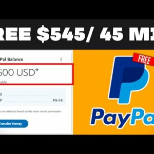 Make $545.45 In Free PayPal Money In 5 MINUTES (Earn Free PayPal Money Today)