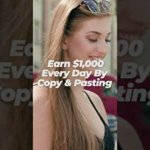 Earn $1,000 PER DAY just by COPY & PASTING (Make Money Online 2021) #Shorts