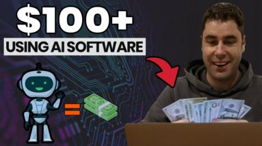 How To Make Money Online Using New AI SOFTWARE Robot! (Earn $100+ Tutorial)