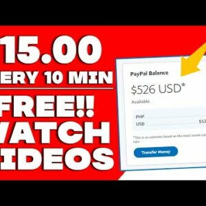 Make $15 For 10 Minutes Of Watching Videos Online! (Make Money Online)