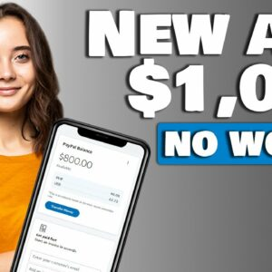 NEW APP PAYS YOU $1000 FOR FREE (Make Money Online 2021)