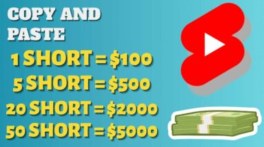 How To Make $500 A Day With YouTube Shorts Just By Copying & Pasting Videos - Make Money Online