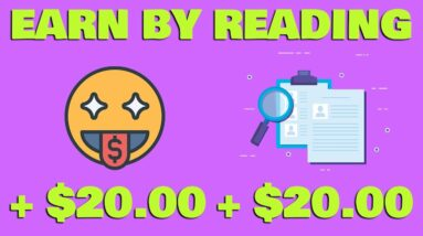 Earn $20 Every 5 Minutes For Reading! (Make Money Online)
